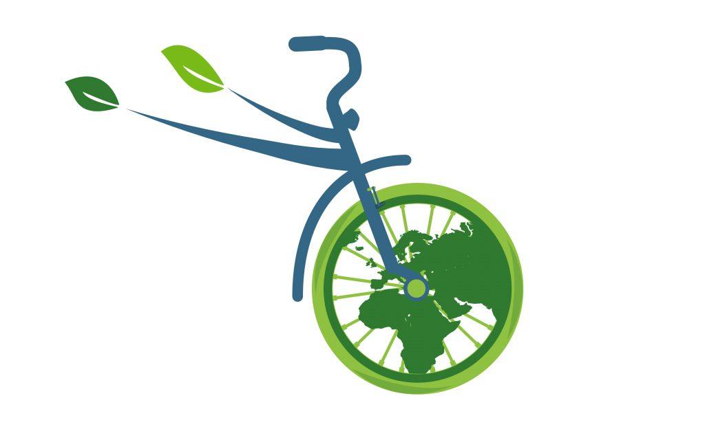 Ön teker jantı içinde bir dünya haritası .Dünyapedal döndükçe yeşile dönüşüyor. Bisikletin iki kişiye gönderme yapan üst kadro borusu uca doğru iki ağaç yaprağı ile son buluyor